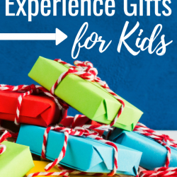 Give experience gifts to your kids this year! Unique, frugal, and clutter-free!!