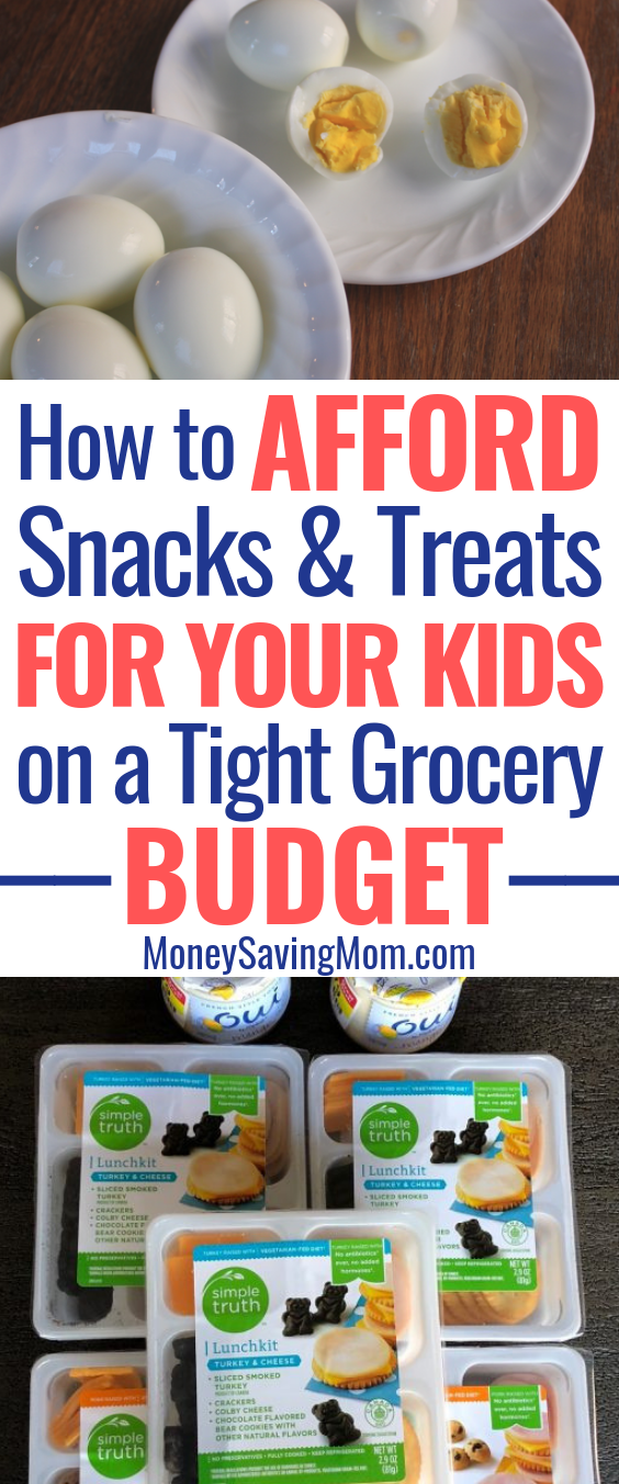 You CAN afford snacks and treats for your kids on a tight grocery budget! Here's how!