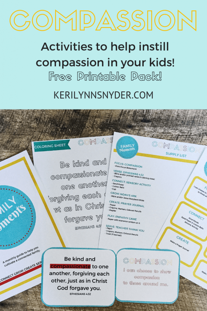 Download A Free Teaching Children Compassion Printable Pack