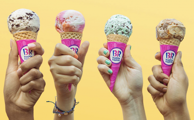 free Baskin Robbins ice cream