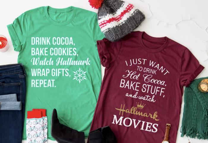 Hallmark Christmas T Shirt.Hallmark Christmas Movies T Shirt For 17 98 Shipped