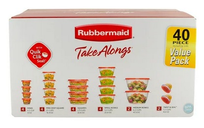 Rubbermaid Food Stroage Containers Set