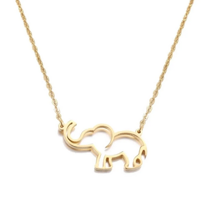 Elephant Drop Necklace