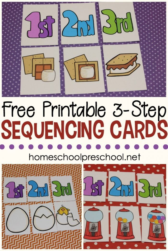 Free Printable 3 Step Sequencing Cards For Preschoolers