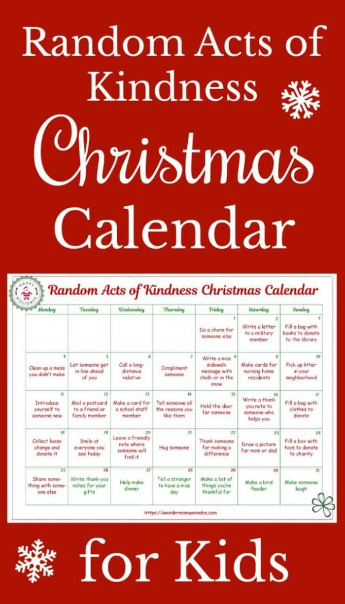 picture regarding Random Act of Kindness Printable referred to as Free of charge Printable Random Functions of Kindness Calendar Economical