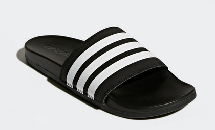 bac7c9216114 Get these Men s Essentials Adilette Cloudfoam Plus Mono Slides for only   15.30 shipped after the promo code LPS18ADP! Choose from black or grey.