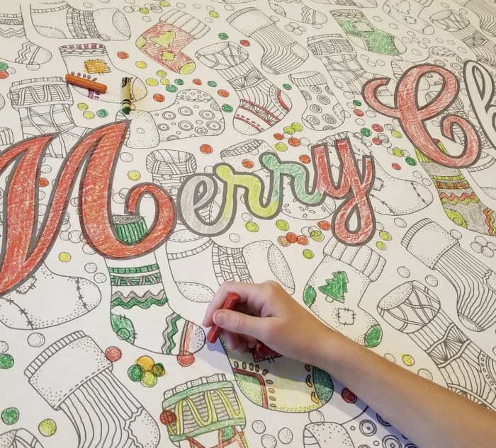 Large Table Top Christmas Coloring Banner for just $5.99!