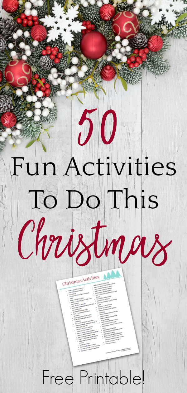 graphic relating to Printable Christmas Activities identify Free of charge Printable Xmas Actions Bucket Listing Monetary