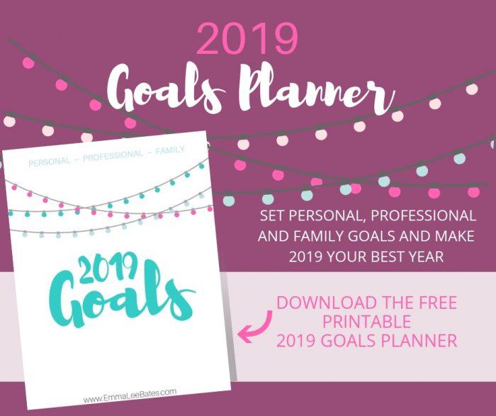 Free Printable 2019 Goals Planner Money Saving Mom Money Saving