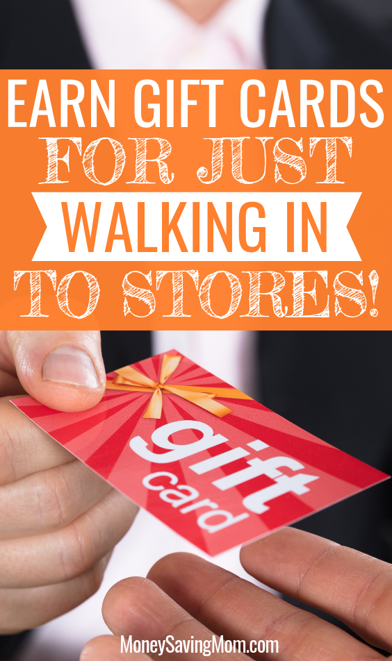 Earn gift cards with the Shopkick app