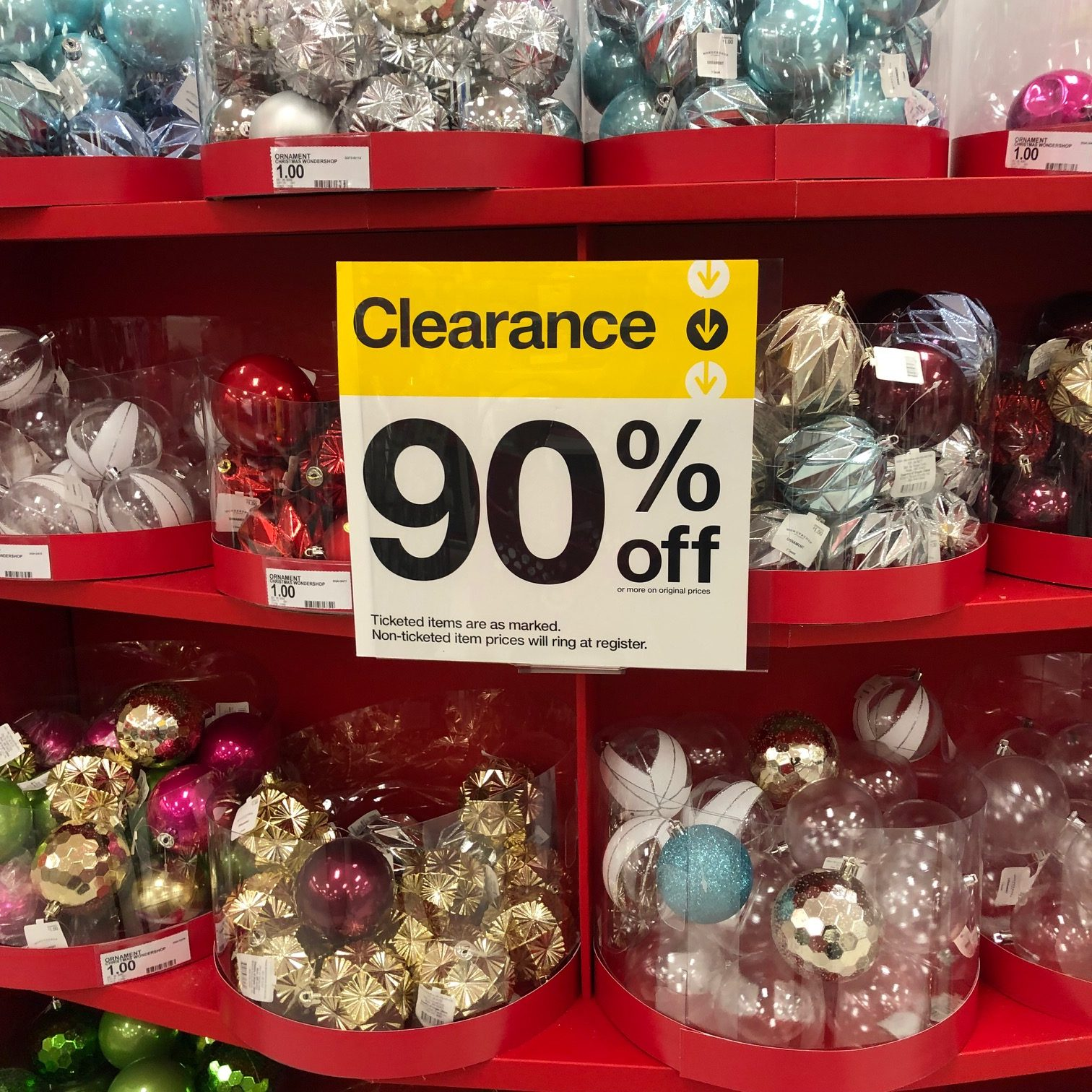 Target Christmas Clearance is 90% Off