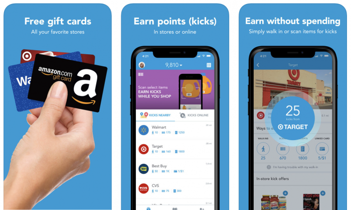 Download the Shopkick app to earn gift cards