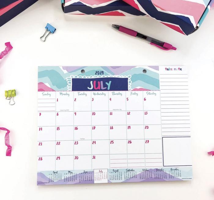 Denise Albright Mini Desk Calendar