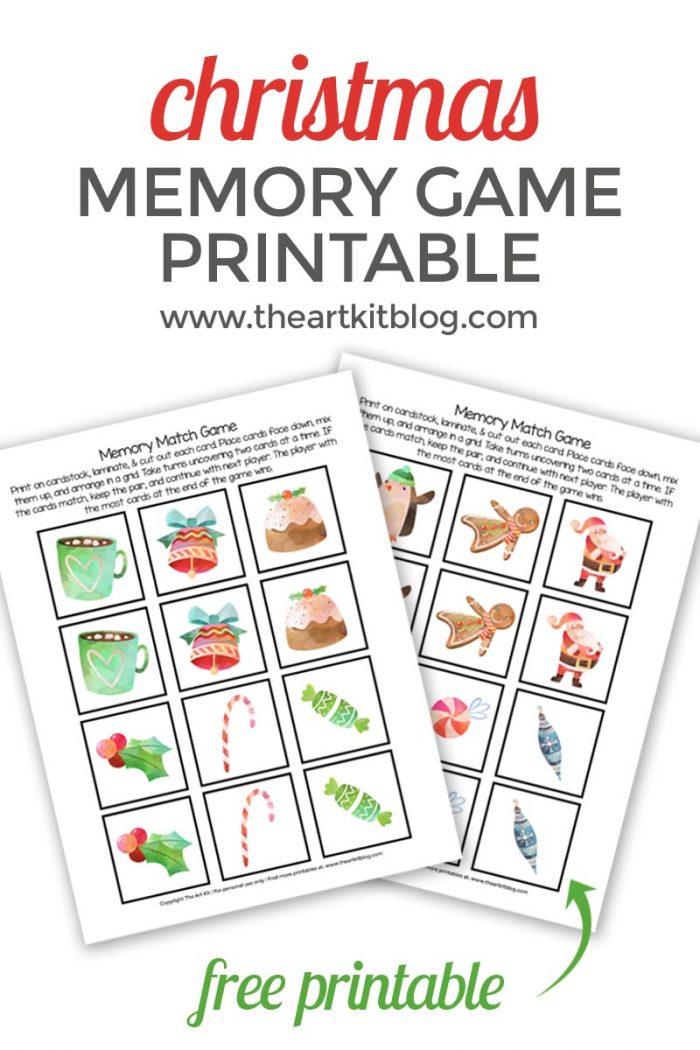 Free Printable Christmas Memory Matching Game - Money Saving