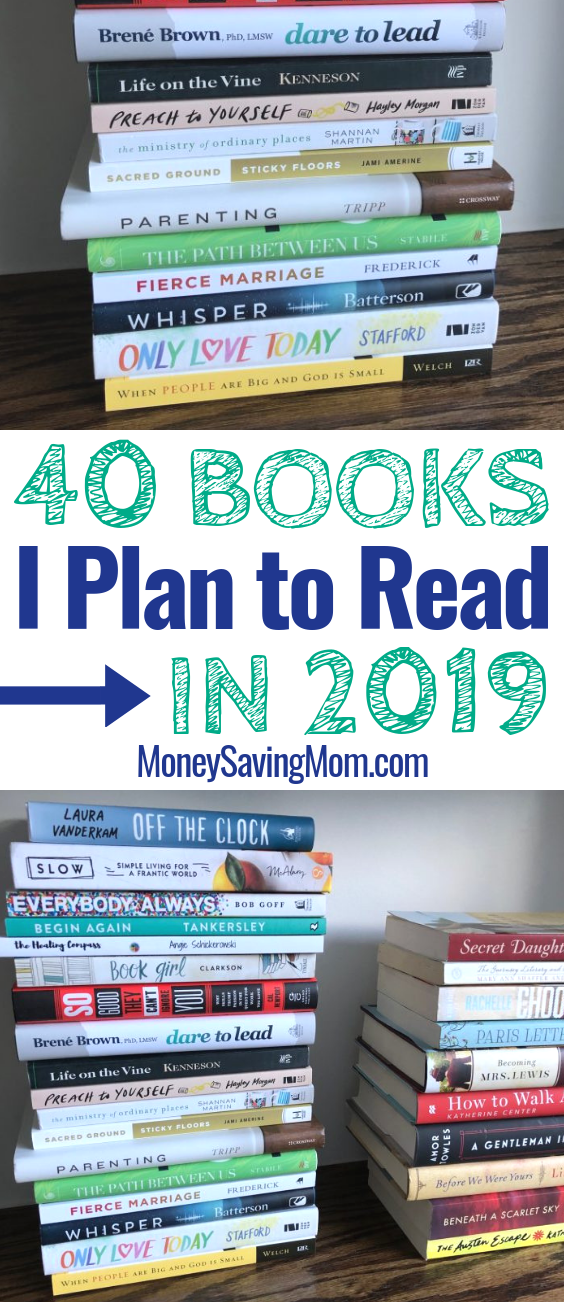 I plan to read these 40 books from my bookshelf in 2019!! What's on your list?