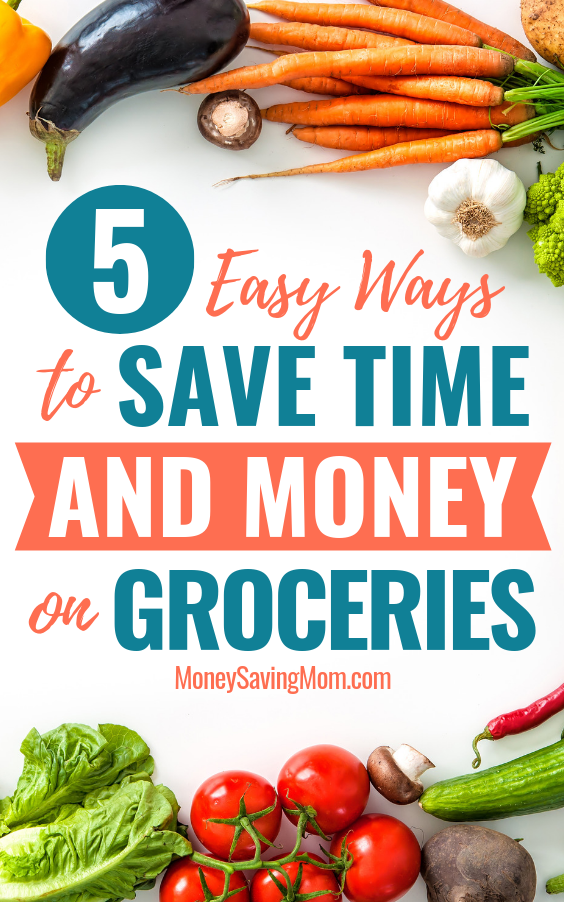 Save money on groceries without sacrificing too much time! These tips are GOLD!