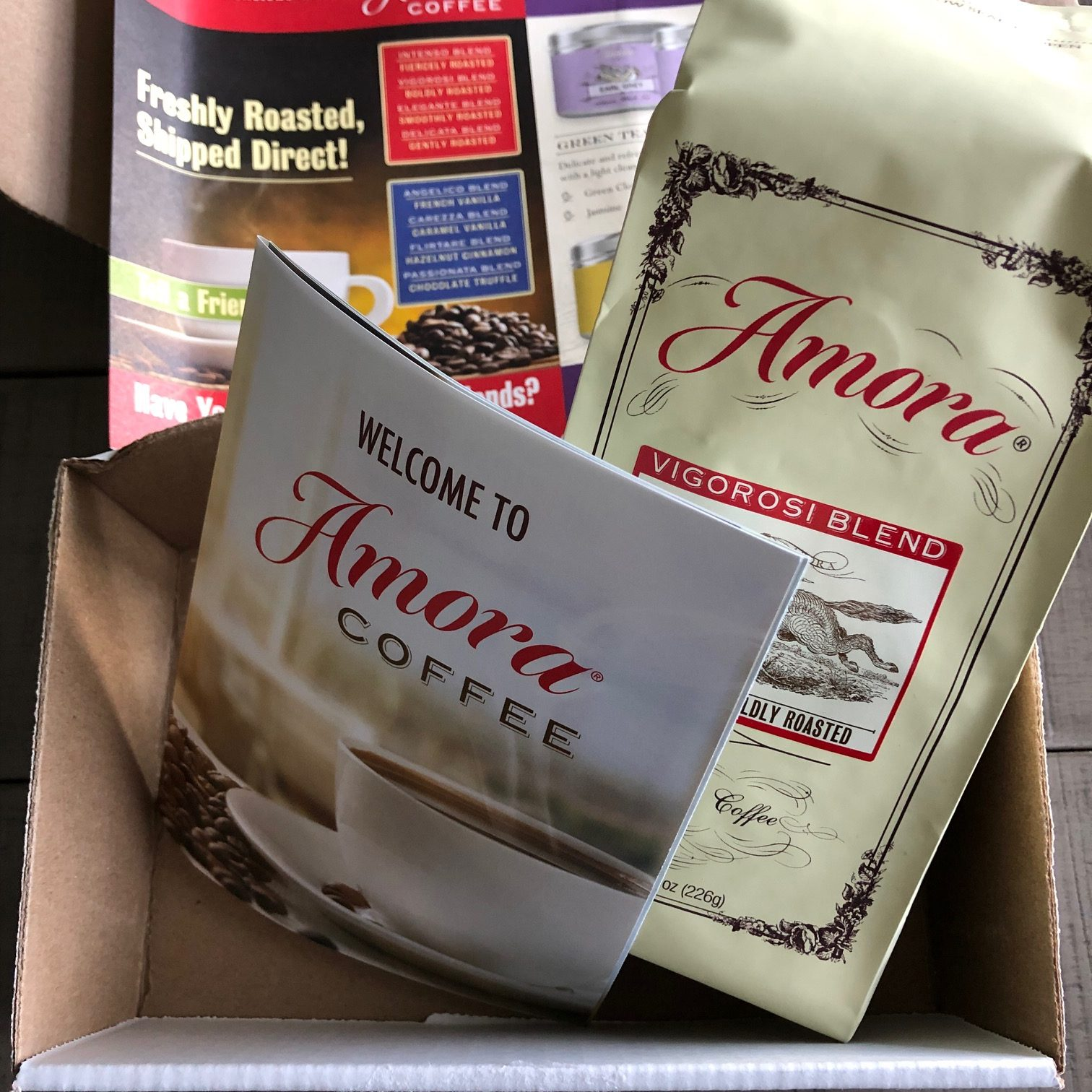 amora coffee in mail