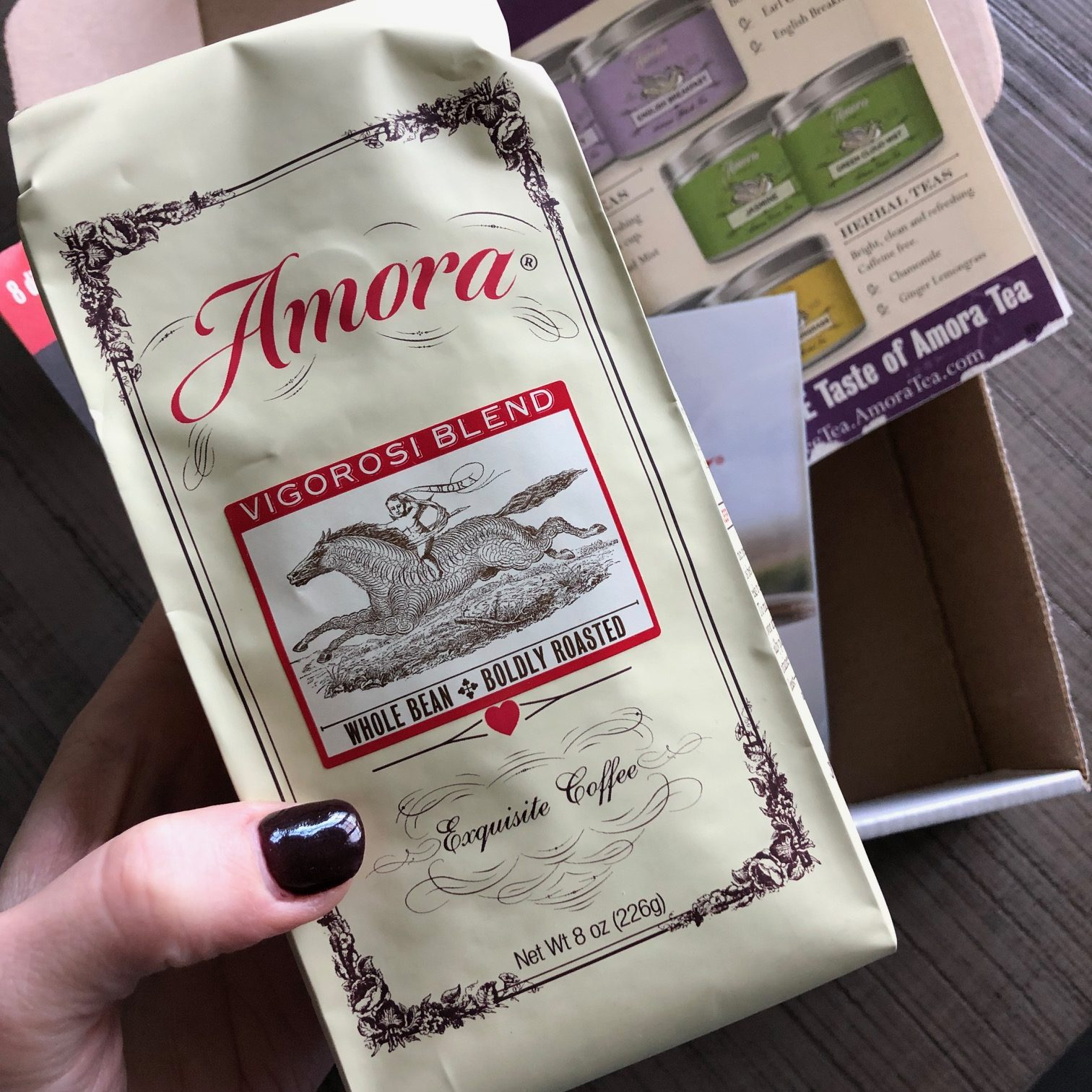 amora coffee vigorosi blend