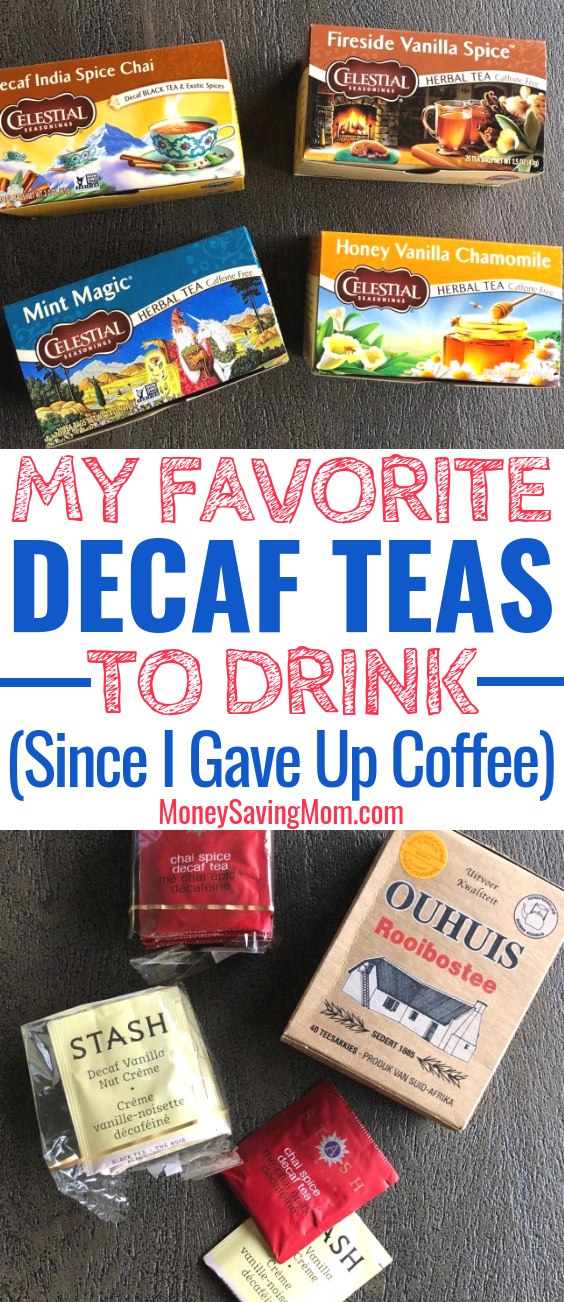 Trying to quit coffee? I gave up coffee a couple years ago, and these are my favorite decaf teas that keep me from missing coffee every day!