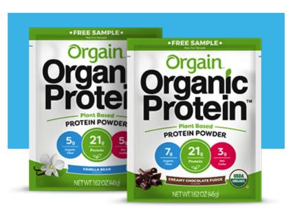 Orgain Organic Protein Sample