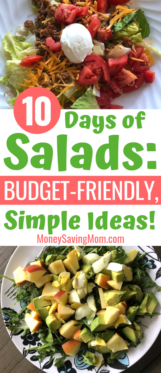 Want to eat more salads, even on a budget? These are GREAT ideas!