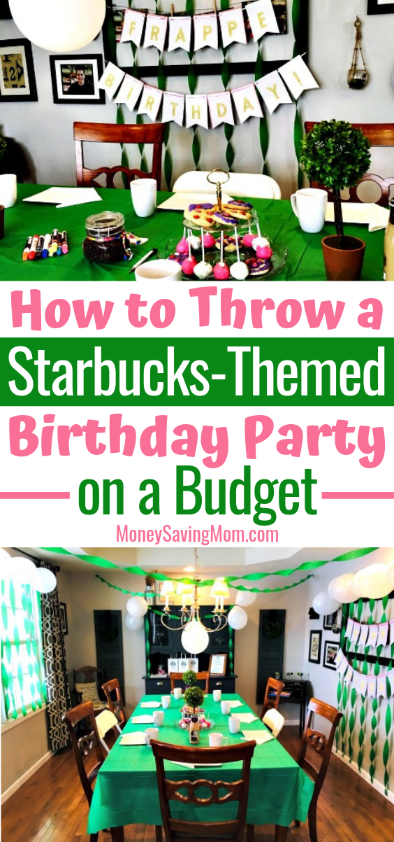 This Starbucks birthday party is SUCH a cute and frugal idea for a teenage girl who loves all things Starbucks and coffee!