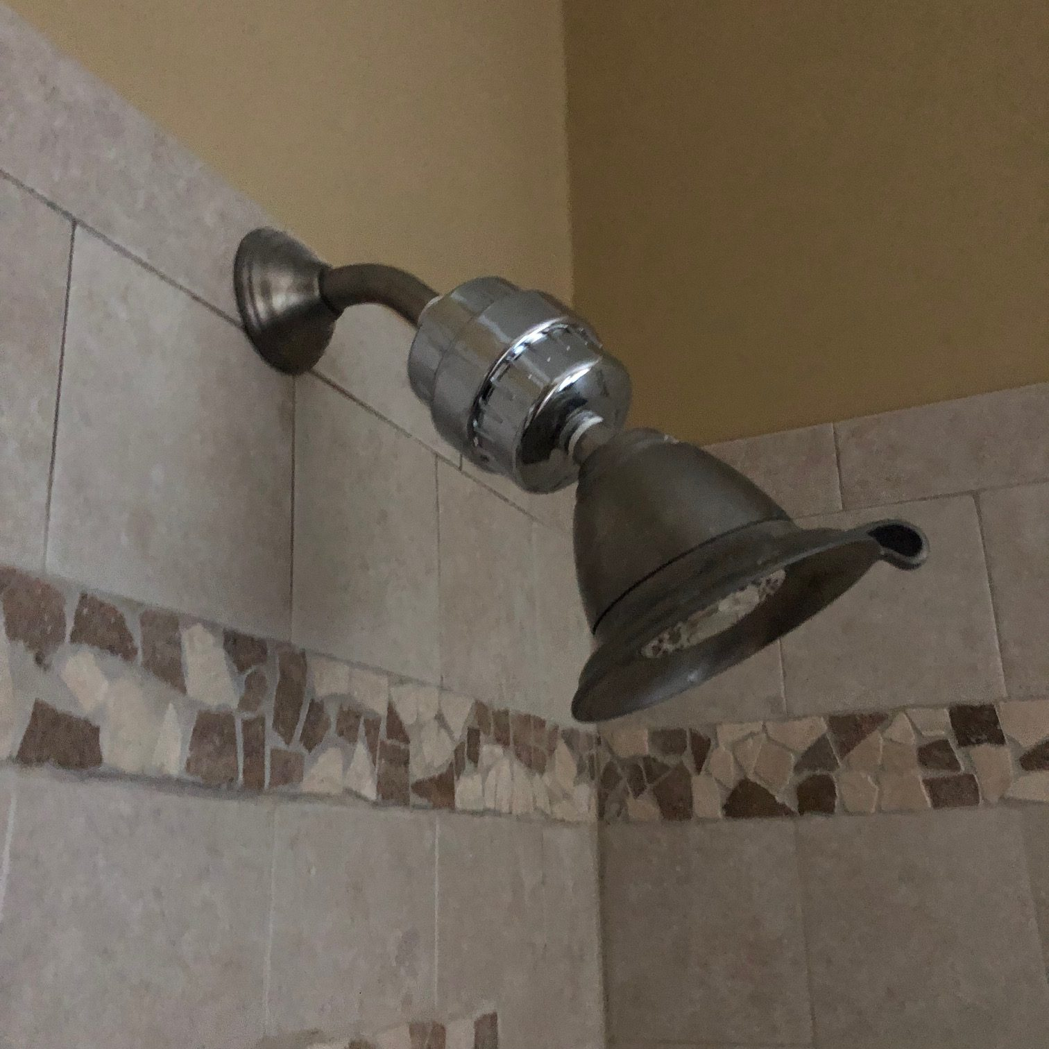 side view of shower head