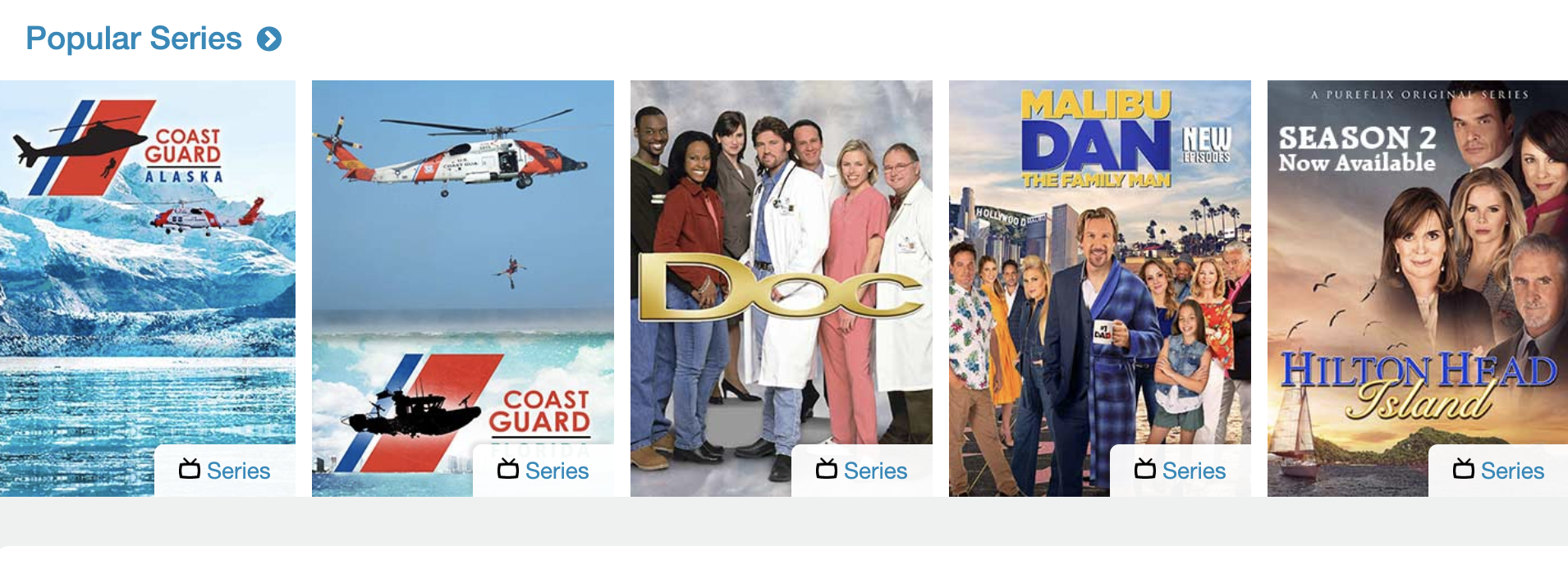 popular series on Pure Flix