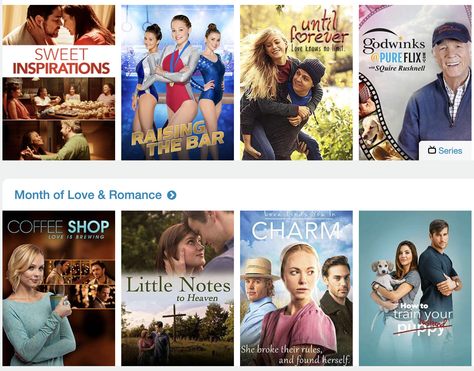 family friendly titles on Pure Flix