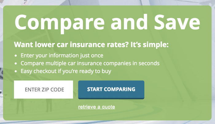 Use Compare.com to get lower car insurance rates!