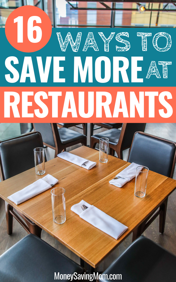 16 Ways to Save More At Restaurants