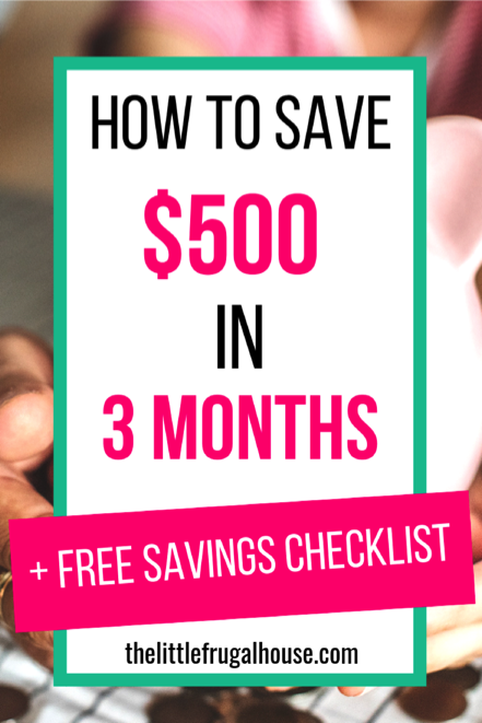 Free Printable Savings Checklist