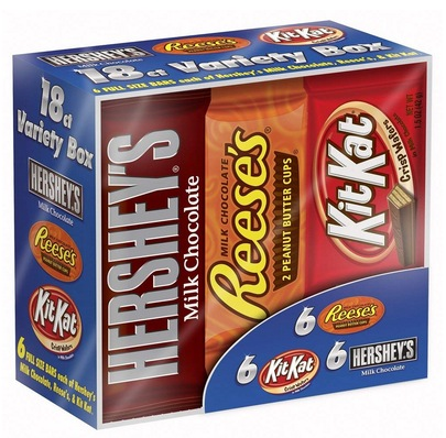 Hershey Candy Bar Assorted Variety Box