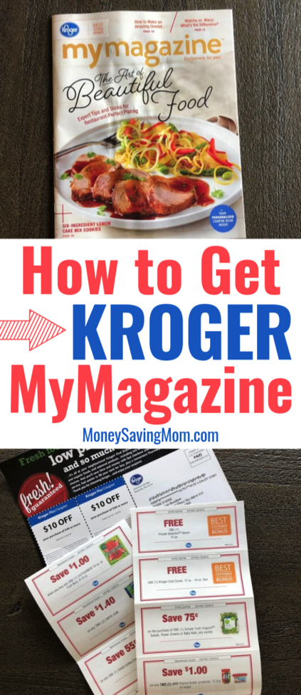 image relating to Kroger Printable Application named How towards Take Kroger MyMagazine Dollars Conserving Mom® : Income