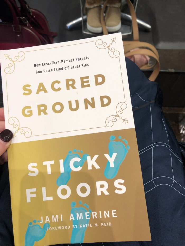 A photo of Sacred Ground, Sticky Floors, a book I finished in February