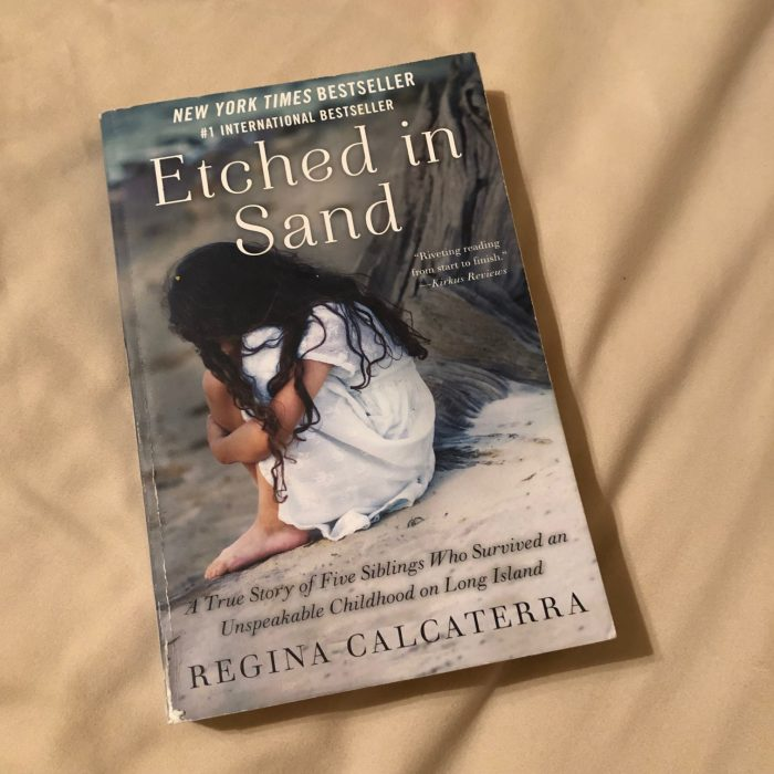 Etched in Sand by Regina Calcaterra, a book I finished in February