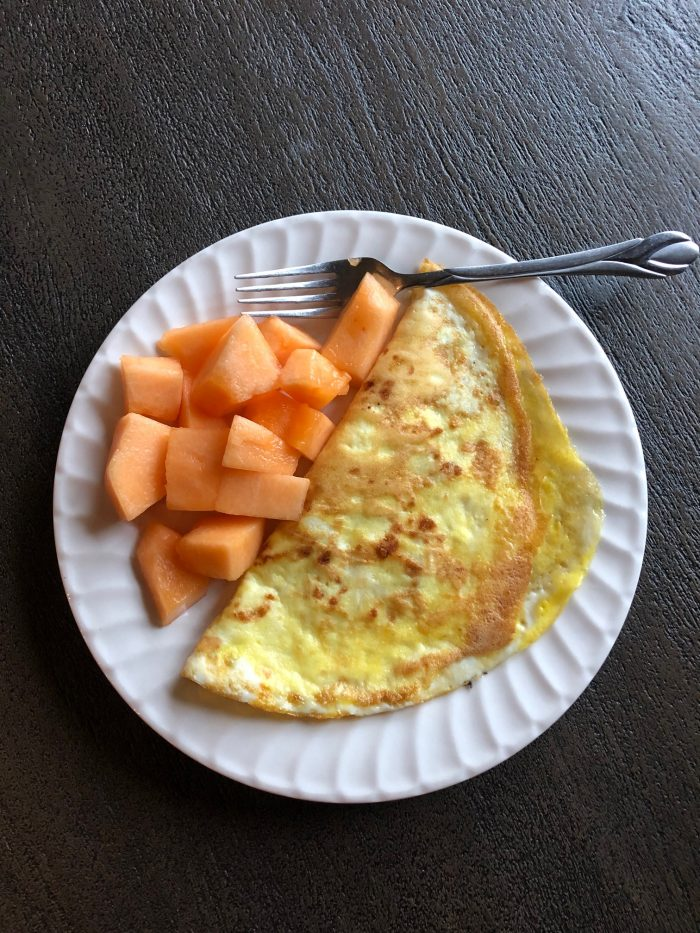 A photo of an omelette