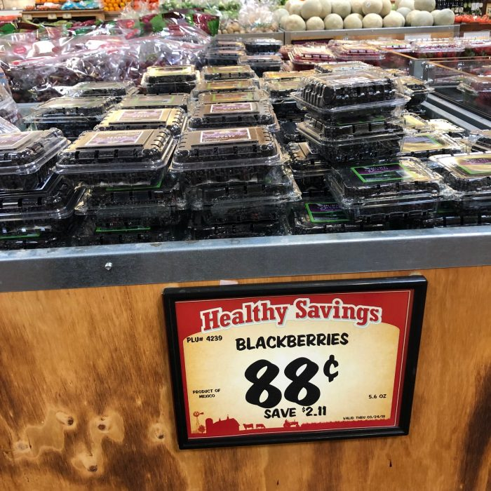 Blueberries at Sprouts