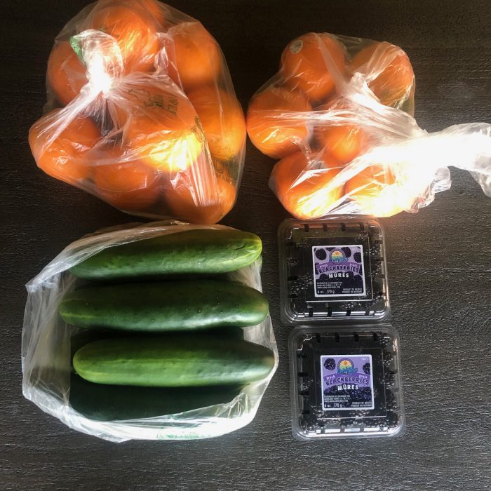 a photo of groceries