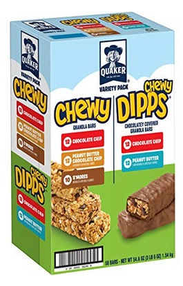Quaker Chewy Granola Bars and Dipps Variety Pack
