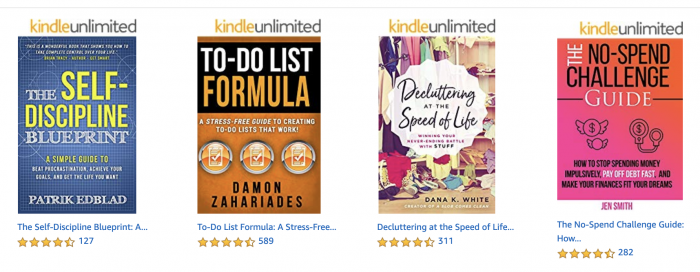 A photo of Amazon Prime Reading books