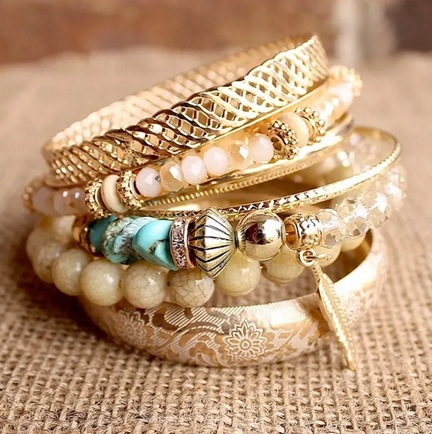 Stacked Bohemian Bracelets