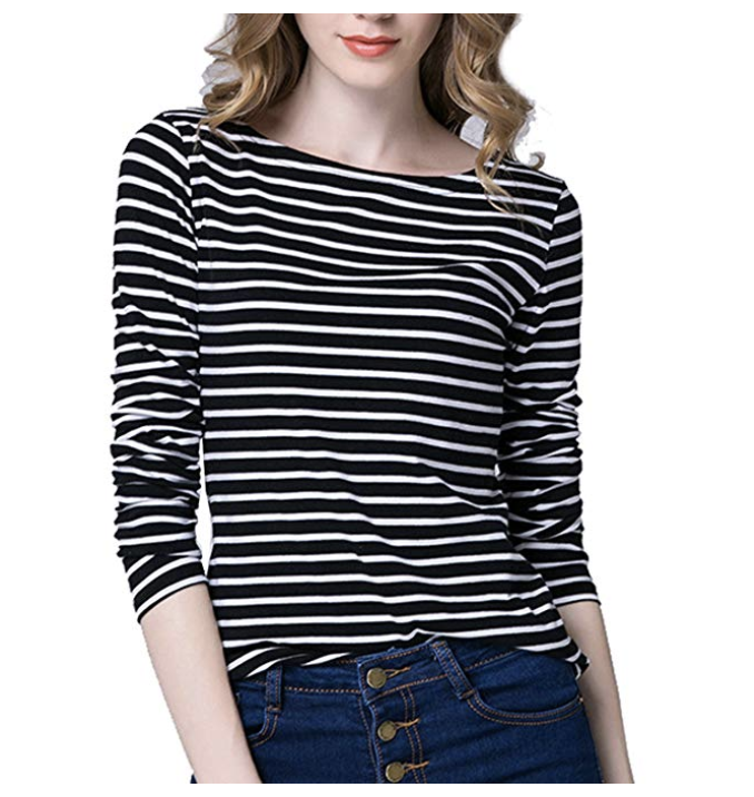 Cute striped tee from Amazon