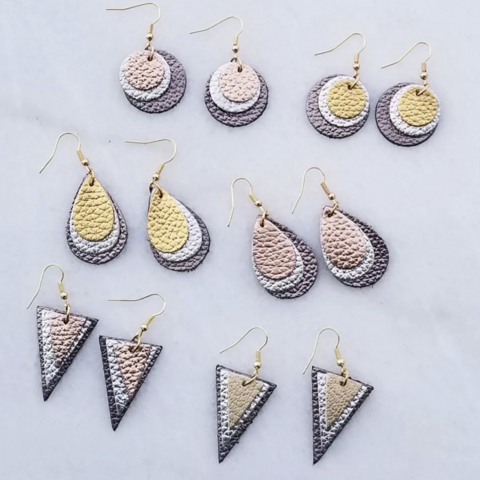 Three-Layer Leather Earring Styles