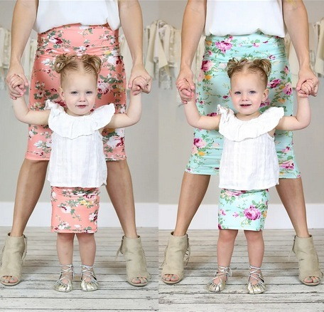 Spring Adult and Child Skirts