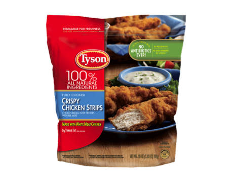 Tyson Fully Cooked Crispy Chicken Strips