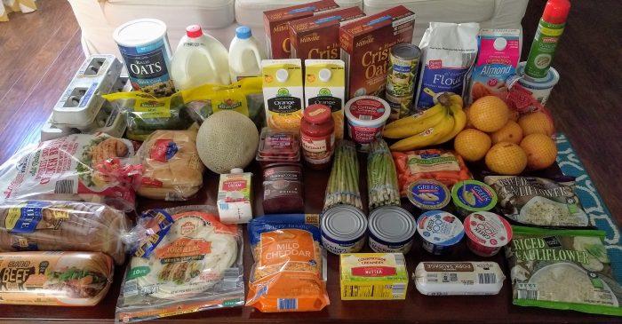 $68 ALDI Grocery Shopping Trip