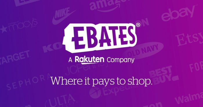 a photo of the Ebates logo