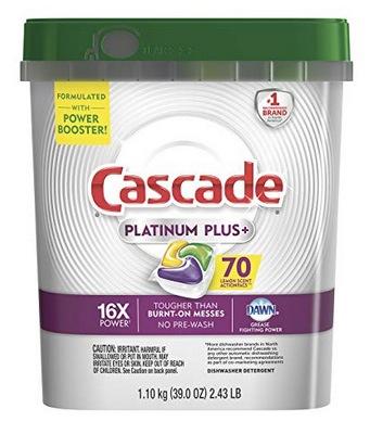 Cascade Platinum Plus Dishwasher Detergent Actionpacs