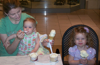 Eating Haagen-Dazs Ice Cream as a family